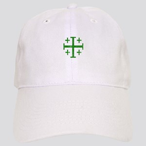 Pretty green christian cross 1 U D Baseball Cap