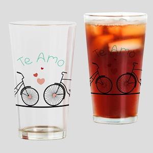 Te Amo Drinking Glass