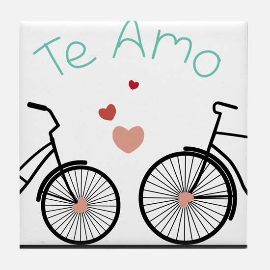 Te Amo Tile Coaster