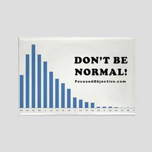 Don't be normal Rectangle Magnet