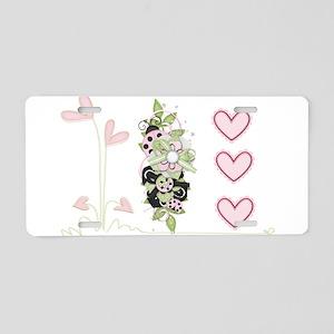 I heart Ladybugs Aluminum License Plate