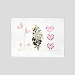 I heart Ladybugs 5'x7'Area Rug