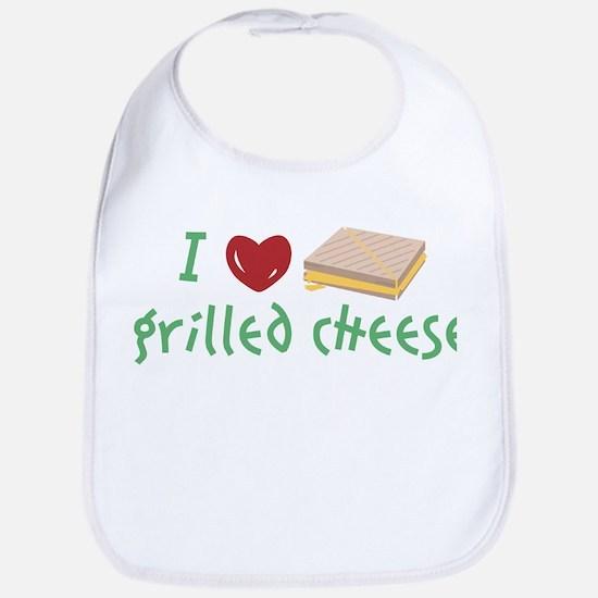 I Love Grilled Cheese Bib