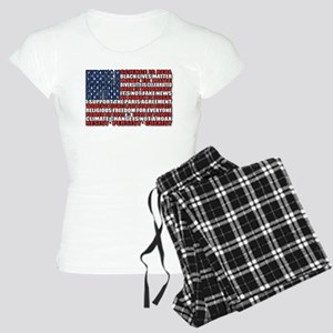Political Protest American Flag Pajamas