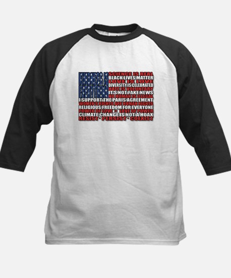 Political Protest American Flag Baseball Jersey