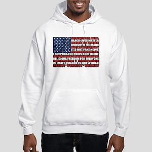 Political Protest American Flag Sweatshirt