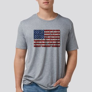 Political Protest American Mens Tri-blend T-Shirt