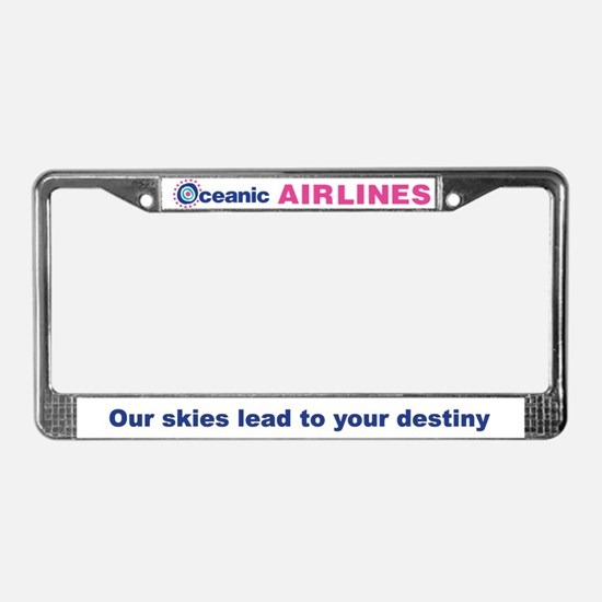 Cute Oceanic airlines License Plate Frame