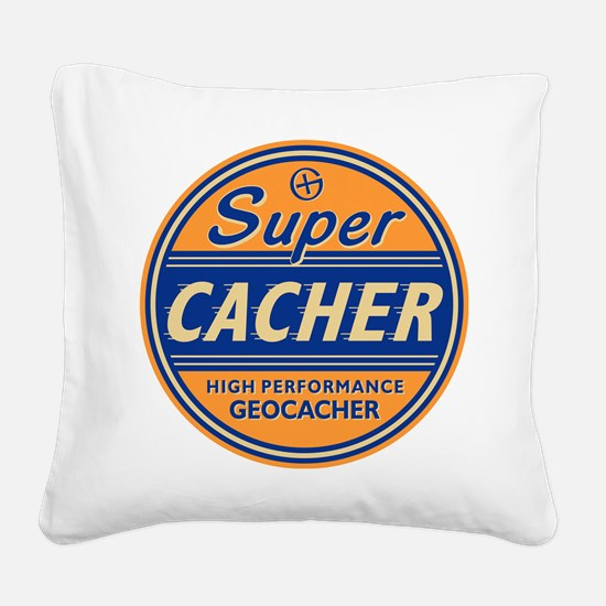 Funny Geocaching Square Canvas Pillow