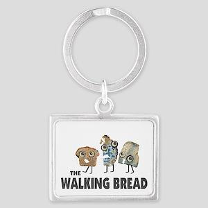 the walking bread Landscape Keychain