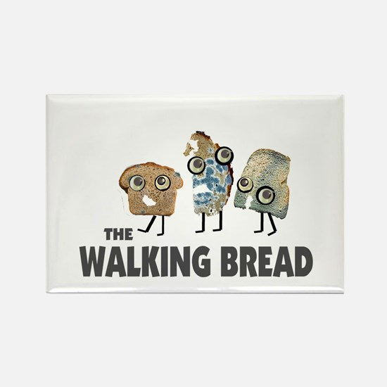 the walking bread Rectangle Magnet (10 pack)