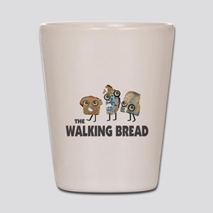 the walking bread Shot Glass