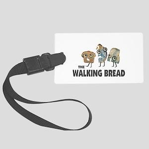 the walking bread Luggage Tag
