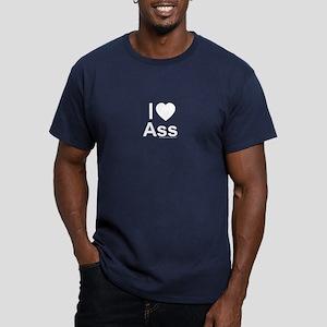 Ass Men's Fitted T-Shirt (dark)