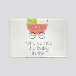 Baby in the Baby Carriage Rectangle Magnet