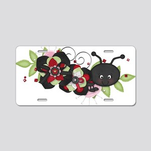 Lovebug Ladybug Aluminum License Plate