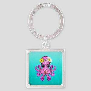 Cute Baby Octopus Hippie Keychains
