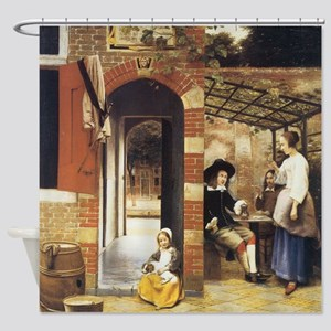 Pieter de Hooch Courtyard Of A House Shower Curtai