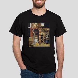 Pieter de Hooch Courtyard Of A House Dark T-Shirt