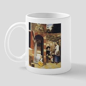 Pieter de Hooch Courtyard Of A House Mug