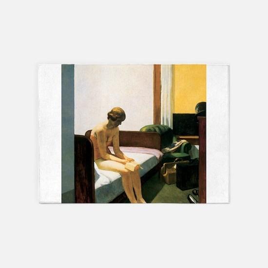 Edward Hopper Hotel Room 5'x7'Area Rug