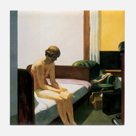 Edward Hopper Hotel Room Tile Coaster