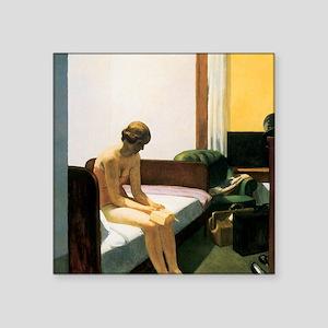 "Edward Hopper Hotel Room Square Sticker 3"" x 3"""