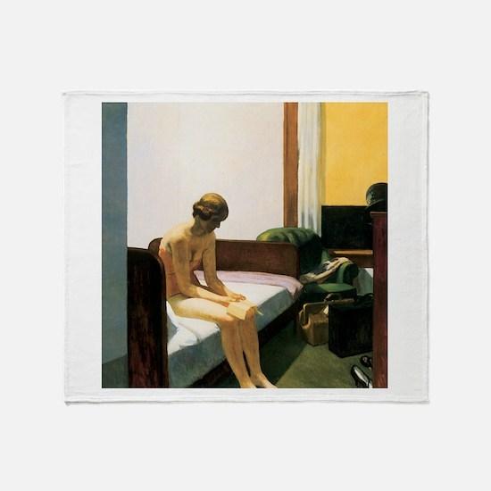 Edward Hopper Hotel Room Throw Blanket