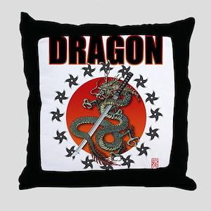 Dragon katana 2a Throw Pillow