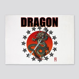 Dragon katana 2a 5'x7'Area Rug