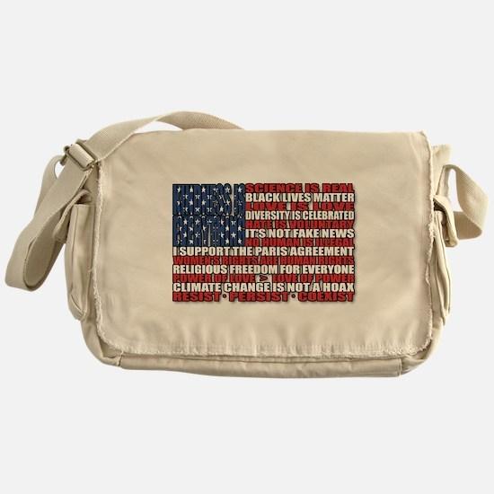 Political Protest American Flag Messenger Bag