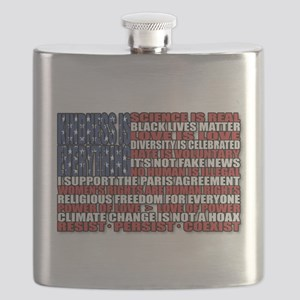 Political Protest American Flag Flask