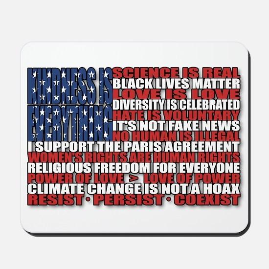 Political Protest American Flag Mousepad
