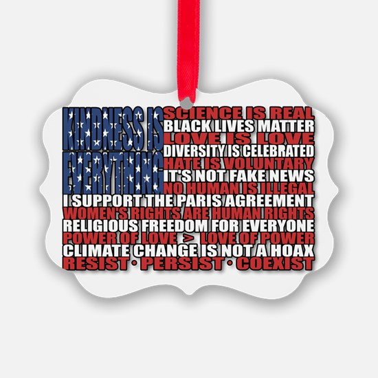 Political Protest American Flag Ornament
