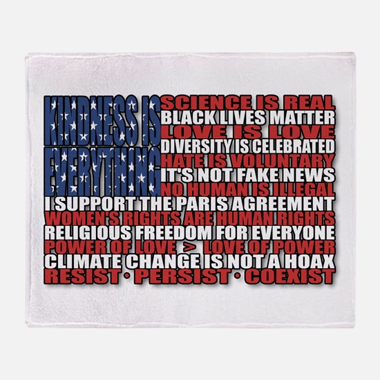 Political Protest American Flag Throw Blanket