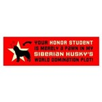 SIBERIAN HUSKY World Domination Sticker