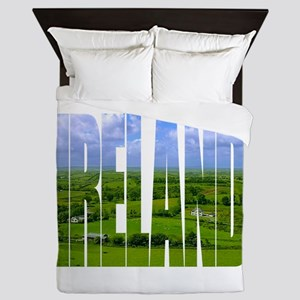 Ireland Green Pastures Photo Queen Duvet