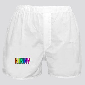 KINKY RAINBOW TEXT Boxer Shorts
