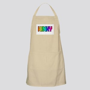KINKY RAINBOW TEXT BBQ Apron