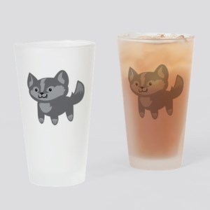 Happy Wolf Drinking Glass