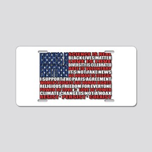 Political Protest American Aluminum License Plate