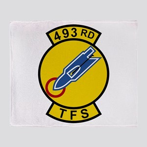 493rd TFS Throw Blanket