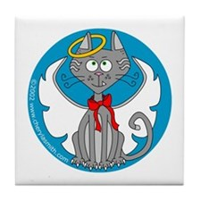 Angel Kitty Tile Coaster