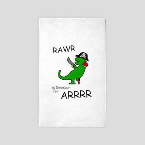 RAWR is Dinosaur for ARRR (Pirate Dinosaur) 3'x5'