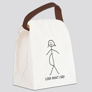 pregnant stick figure Canvas Lunch Bag