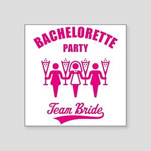 Bachelorette Party – Team Bride, Magenta Square St