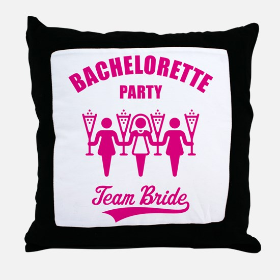 Bachelorette Party – Team Bride, Magenta Throw Pil