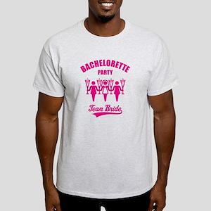 Bachelorette Party – Team Bride, Magenta Light T-S