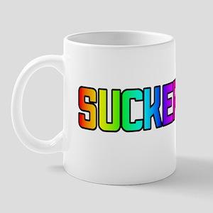 SUCKER RAINBOW TEXT Mug