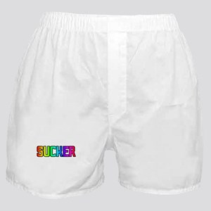 SUCKER RAINBOW TEXT Boxer Shorts